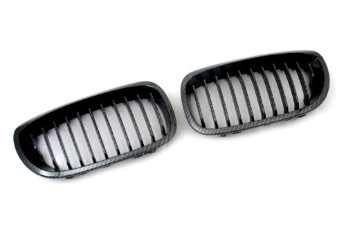 Carbon Fiber Style Sport Front Grille Replacement - E46 Coupe Facelift