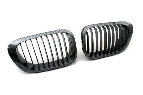 Carbon Fiber Style Sport Front Grille Replacement - E46 Coupe