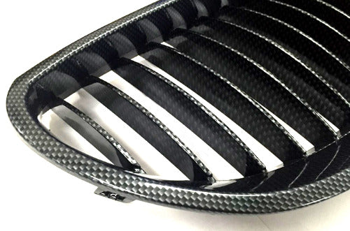 Carbon Fiber Style Sport Front Grille Replacement - E60 5 Series