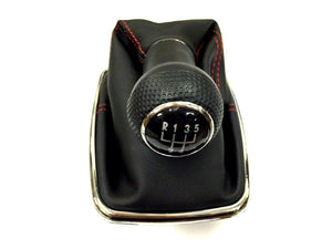 Gear Knob & Shift Boot (Chrome Frame & Red Stitching Boot)