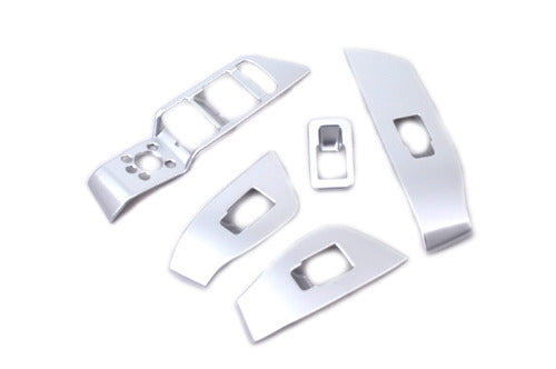 Matt Chrome Interior Switch Panel Cover Set 5 Pcs - A4 B9