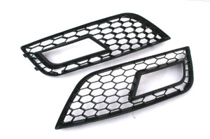 RS Style Honeycomb Vented Black Fog Light Grille - A4 B8 Facelift