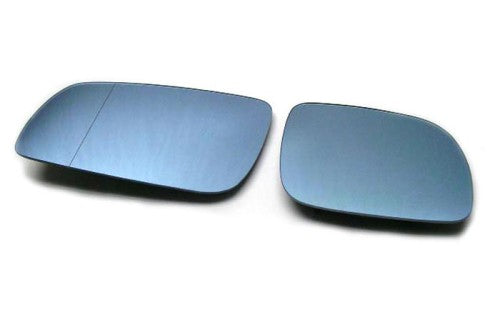 Blue Tinted Aspherical Side Mirror Glass (Stubby Mirror) - Golf / Jetta MK4