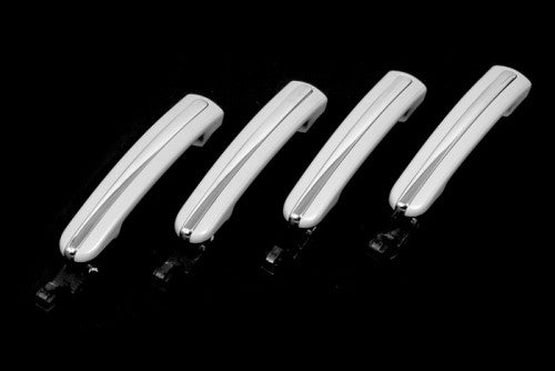 Chrome Stripped Exterior 4 Door Handle Set