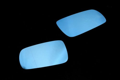 Blue Tinted Aspherical Side Mirror Glass (2 Side Split Angle) - MK4 Golf / Jetta & Passat B5