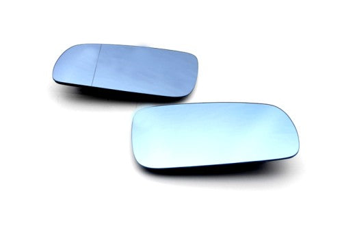 Blue Tinted Aspherical Side Mirror Glass (Left Side Split Angle) - MK4 Golf / Jetta & Passat B5