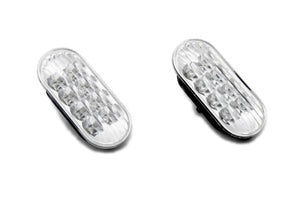 LED Side Marker Light (Clear Lens Blue LED) - Golf / Jetta MK4 Passat B5