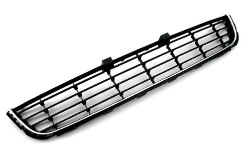 Chrome Front Bumper Center Lower Cooling Grille Insert - Golf MK6 / Jetta Sportwagen