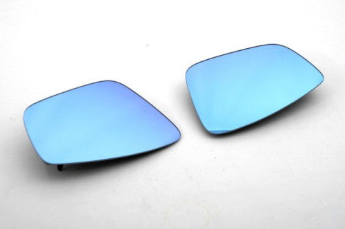 Blue Tinted Side Mirror Glass With Heat Support - Polo 6R