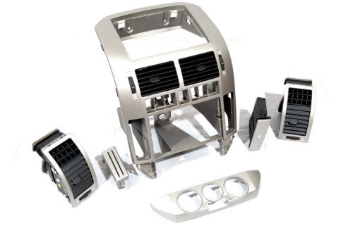 Brush Aluminium Style Interior Console Kit