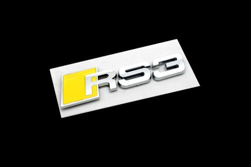 RS3 Chrome & Yellow Emblem