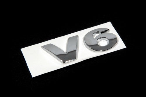 'V6' Chrome Trunk Emblem