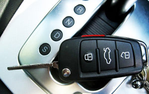 Remote Flip Key Fob Cover (Gloss White) For Audi Flip Key Remote