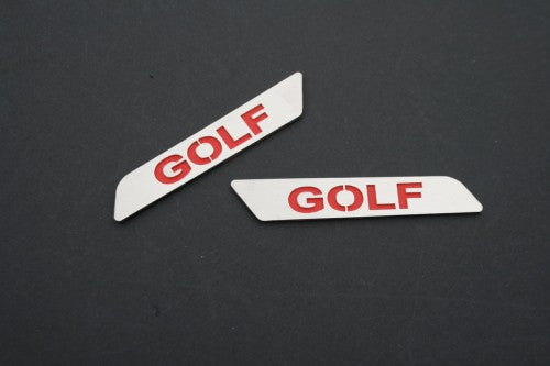 Front Seat Side Pull Handle Decoration Plate - Golf Style