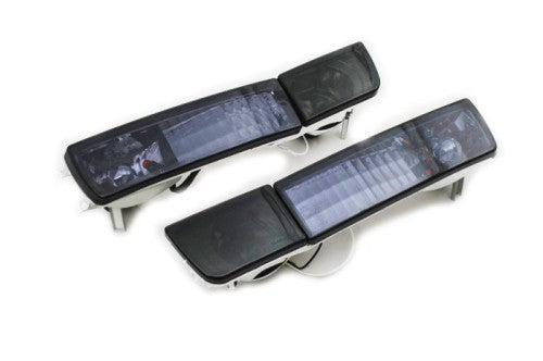 Smoke Crystal Style Euro Bumper Fog & Turn Signal Lights