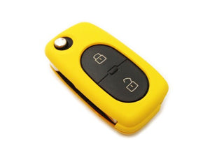 Remote Flip Key Fob Cover (Yellow) For Audi Early Flip Key Remote