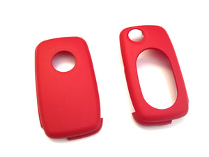 MK4 Oval Key Pad Remote Flip Key Cover (Red)