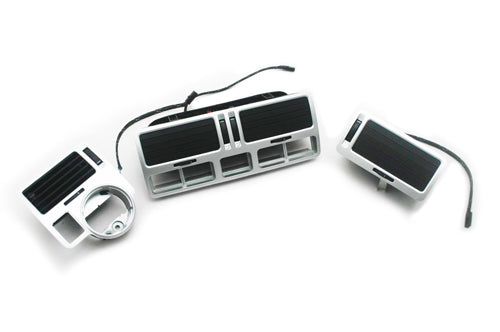 R32 Style Illuminated Silver Air Vent Dash Kit