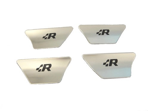 Stainless Steel Interior Door Handle Protection Cover Plate '.:R' Style