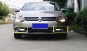 Front Fog Light Grille With LED DRL - Jetta MK6