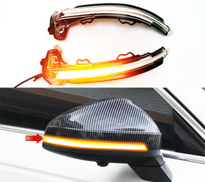 Sequential Style Side Mirror Turn Signal Light Clear Lens - A4 A5 B9