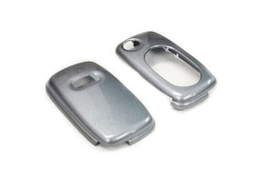 Remote Flip Key Fob Cover For Audi Early Flip Key Remote (Metallic Grey)