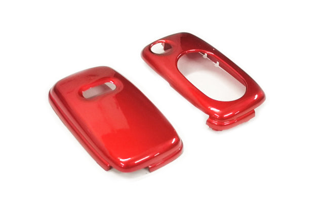 Remote Flip Key Fob Cover For Audi Early Flip Key Remote (Metallic Red)