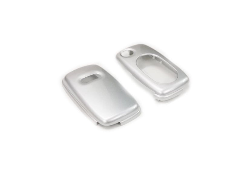 Remote Flip Key Fob Cover For Audi Early Flip Key Remote (Gloss Silver)