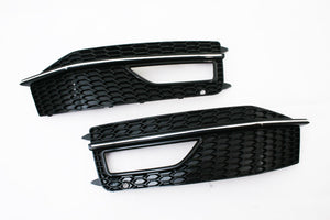 S4 Fog Light Grille With Chrome Strip - A4 B8