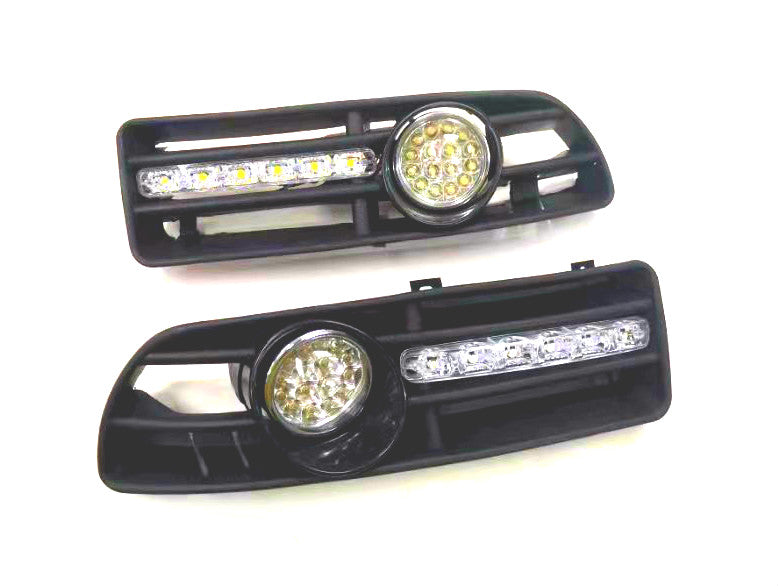 Front Fog Light Kit With LED Day Time Running Light - Jetta / Bora MK4