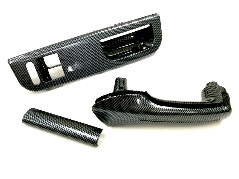 Carbon Fiber Style Interior Grab Handle Set - MK4 Golf 2 Doors