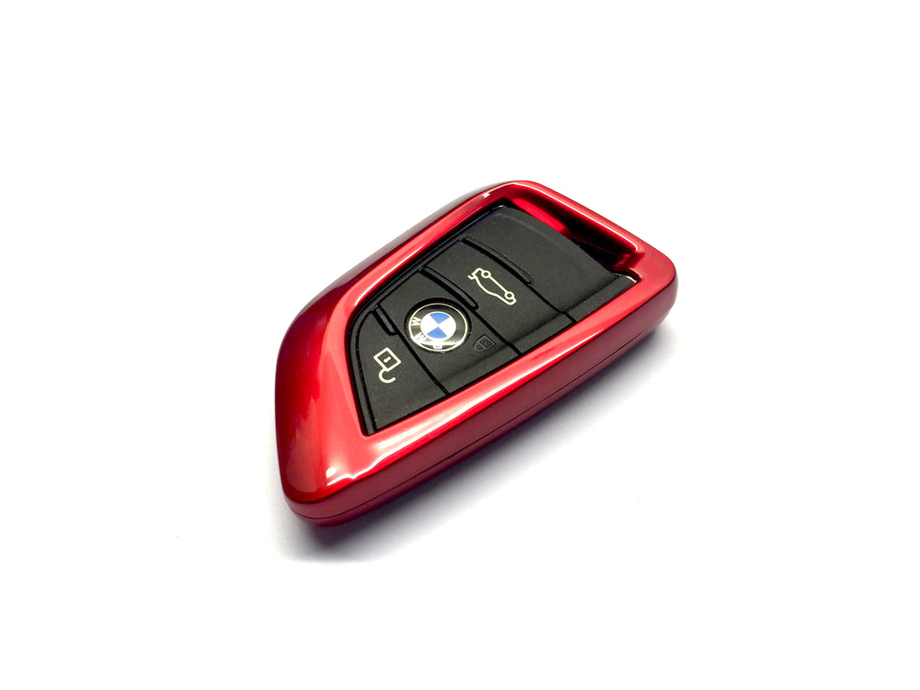 Remote Key Cover (Metallic Red) For BMW Keyless Remote Key