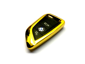 Remote Key Cover (Gold Chrome) For BMW Keyless Remote Key