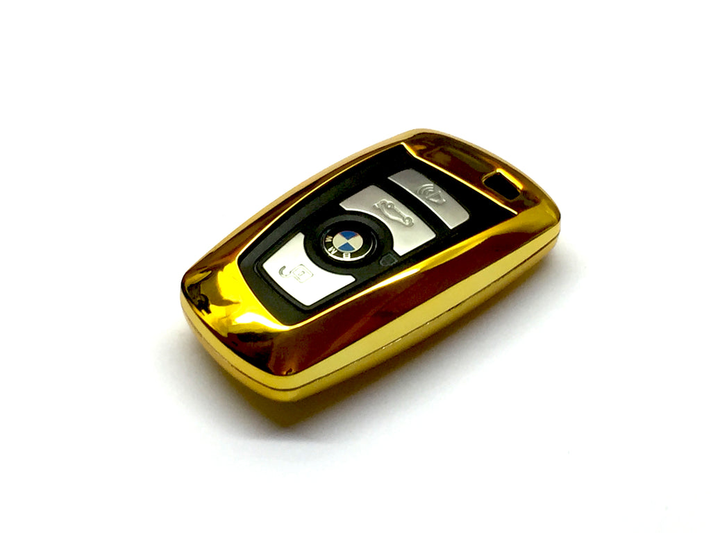 Remote Key Cover (Gold Chrome) For BMW F Series Remote Key