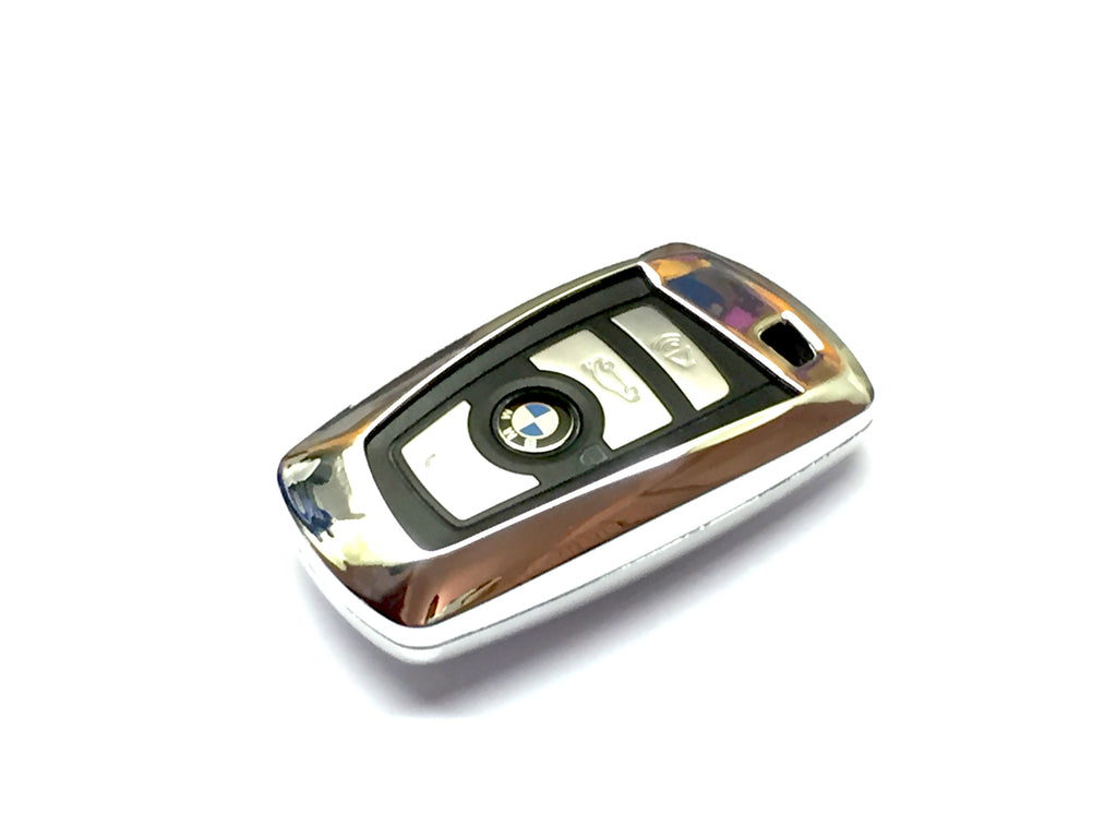 Remote Key Cover (Silver Chrome) For BMW F Series Remote Key