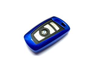 Remote Key Cover (Metallic Blue) For BMW F Series Remote Key