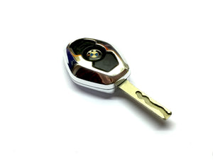Remote Key Cover (Silver Chrome) For BMW Diamond Remote Key