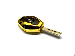 Remote Key Cover (Gold Chrome) For BMW Diamond Remote Key