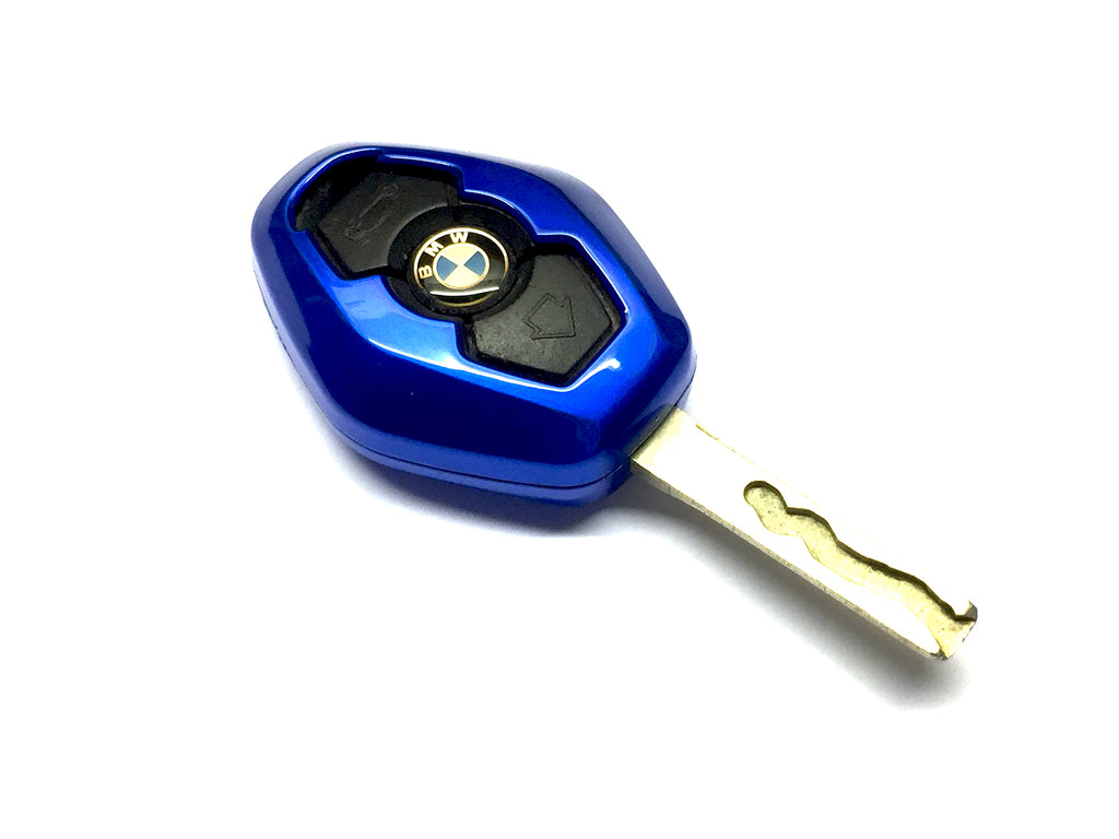 Remote Key Cover (Metallic Blue) For BMW Diamond Remote Key