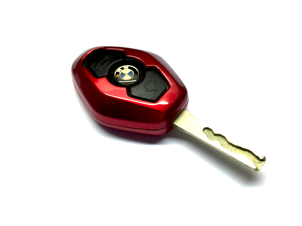 Remote Key Cover (Metallic Red) For BMW Diamond Remote Key