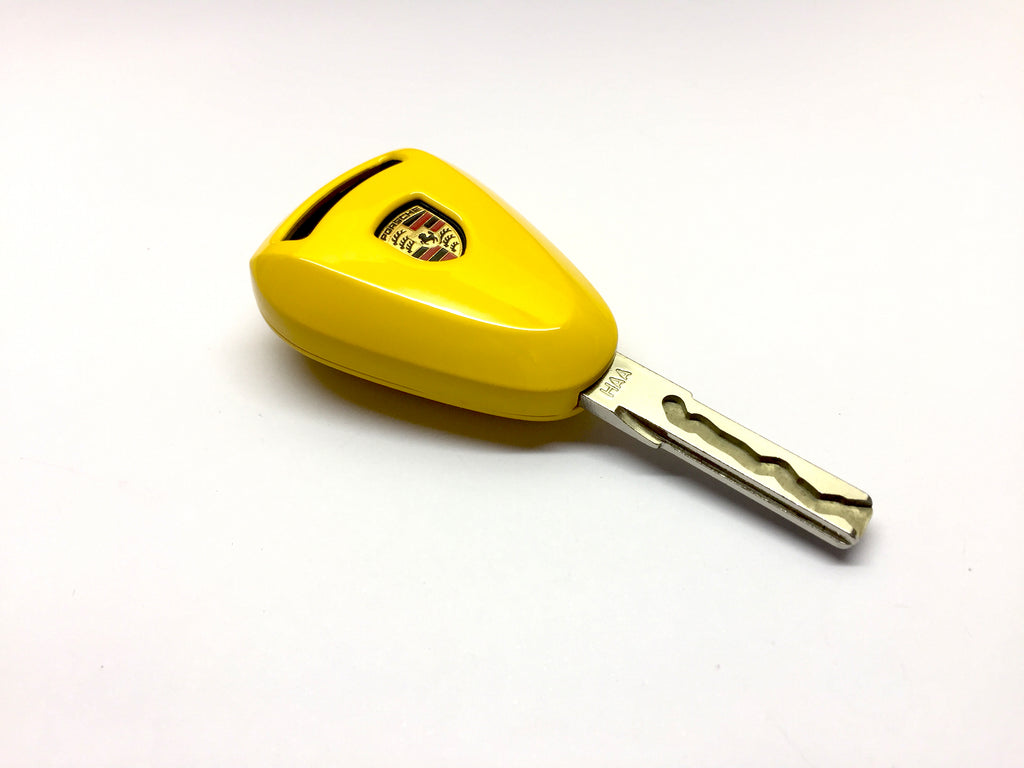 Remote Key Cover (Gloss Yellow) For Porsche 997.1 / 987.1 Silver Head Remote Key