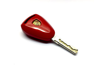 Remote Key Cover (Gloss Red) For Porsche 997.1 / 987.1 Silver Head Remote Key
