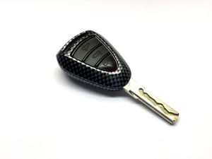 Remote Key Cover (Carbon Fiber) For Porsche Silver Head Remote Key