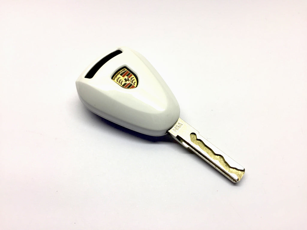 Remote Key Cover (Gloss White) For Porsche Silver Head Remote Key