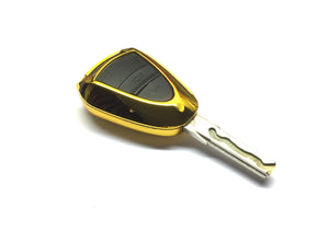 Remote Key Cover (Gold Chrome) For Porsche Black Head Remote Key
