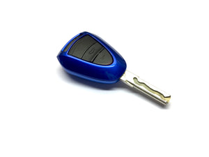 Remote Key Cover (Metallic Blue) For Porsche Black Head Remote Key