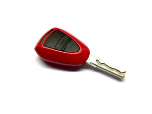 Remote Key Cover (Gloss Red) For Porsche Black Head Remote Key
