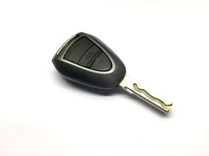 Remote Key Cover (Metallic Grey) For Porsche Black Head Remote Key