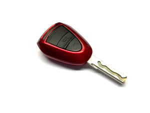 Remote Key Cover (Metallic Red) For Porsche Black Head Remote Key