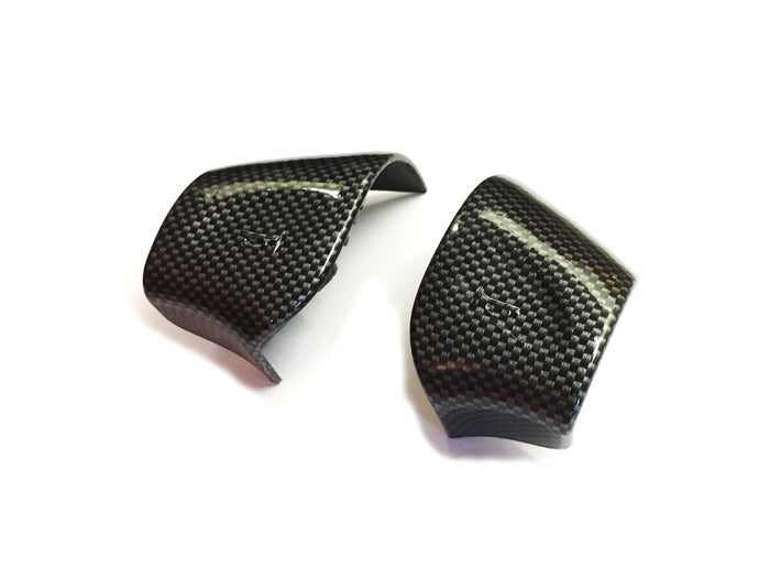 Carbon Fiber Style Steering Wheel Horn Replacement Cap Cover - Golf / Jetta MK3
